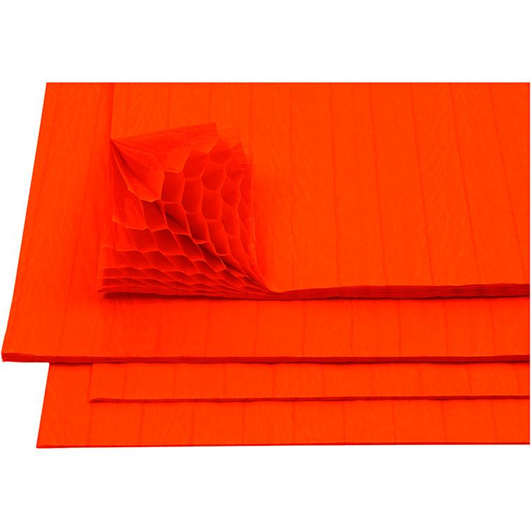 Harmonikapapir, ark 28x17,8 cm, orange, 8ark