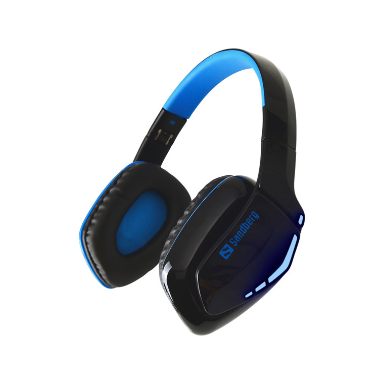 Headset Over-Ear Blue Storm Wireless sort blå