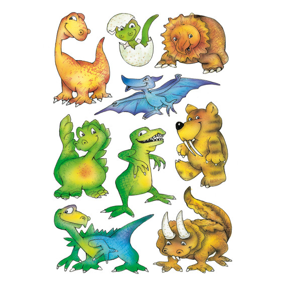 HERMA Decor Stickers dinosaurs 3 sheets