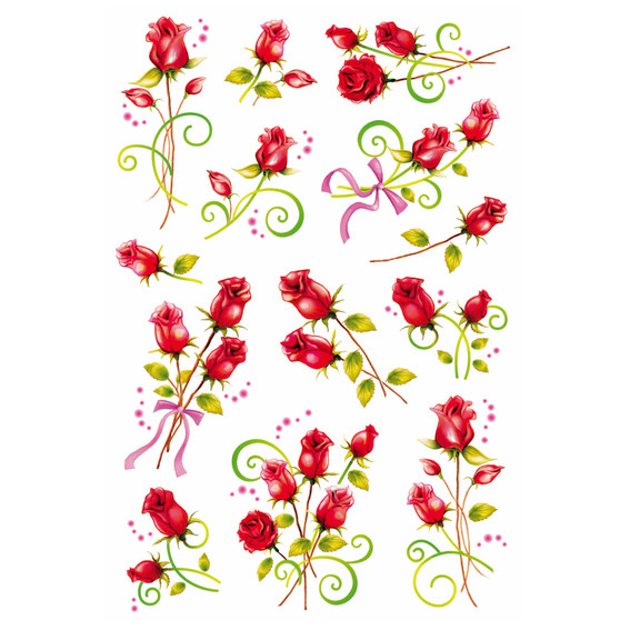 HERMA Decor Stickers roses foil 2 sheets