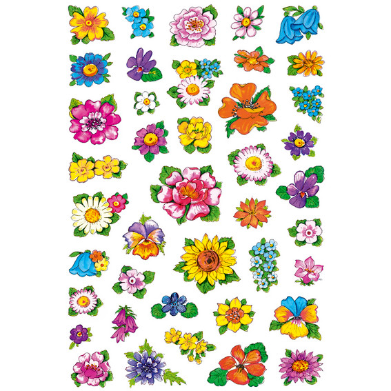 HERMA Decor Stickers small flowers 3 sheets