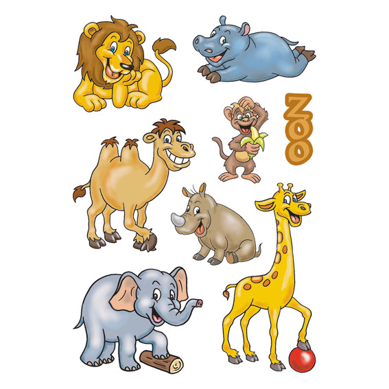 HERMA Decor Stickers zoo animals 3 sheets