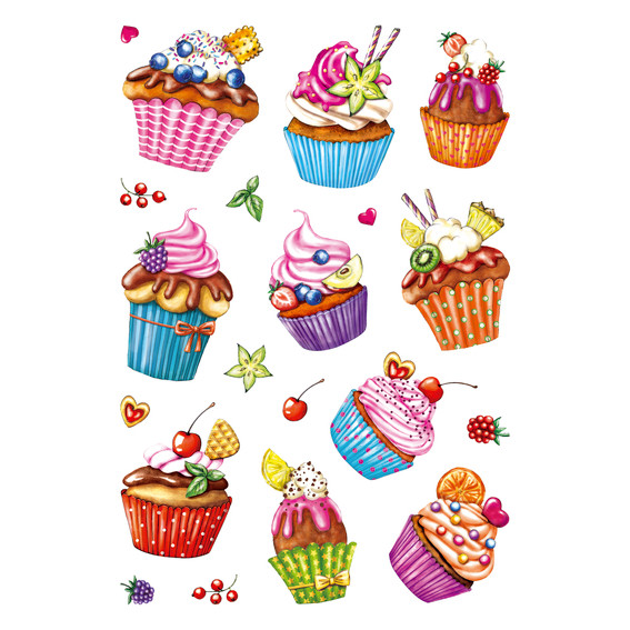 HERMA Herma Decor cupcakes, foil glittery