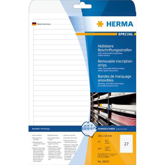 HERMA Herma etiket aftagelig 192x10 (675)
