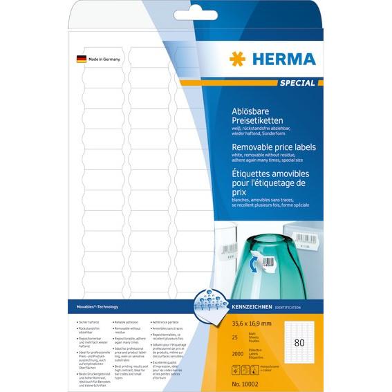 HERMA Herma etiket aftagelig 35,6x16,9 (2000)