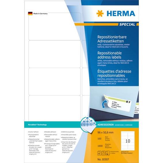 HERMA Herma etiket aftagelig 96x50,8 (1000)