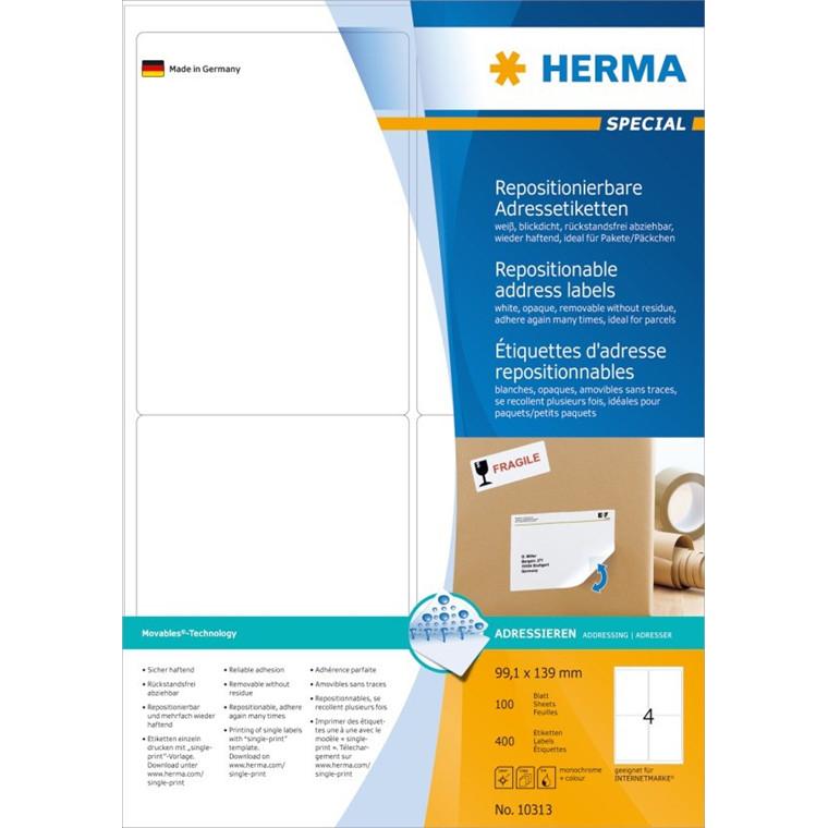 HERMA Herma etiket aftagelig 99,1x139 (400)