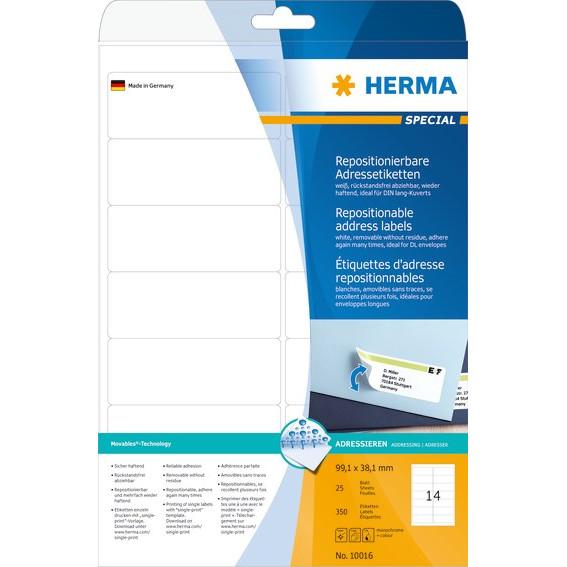 HERMA Herma etiket aftagelig 99,1x38,1 (350)