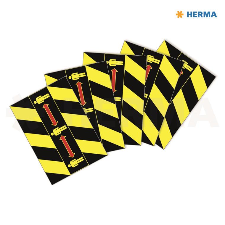 "HERMA Herma etiket ""Gulv markering m/pictogram"" sort-gul (5)"