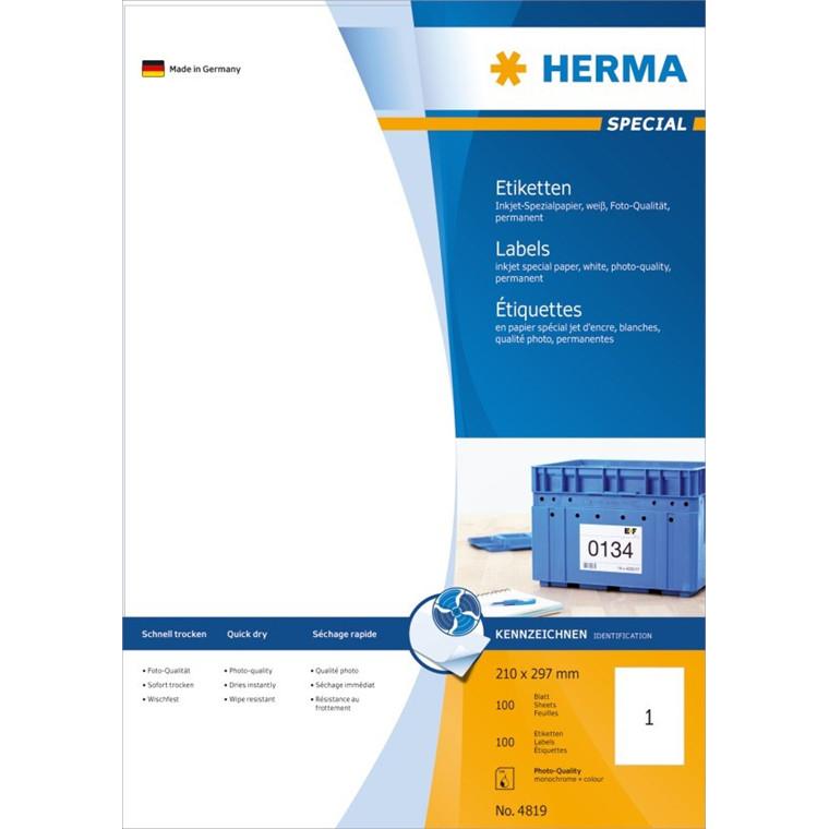 HERMA Herma etiket Special Inkjet 210x297 (100)