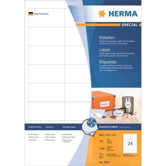 HERMA Herma etiket Special Inkjet 66,0x33,8 (2400)