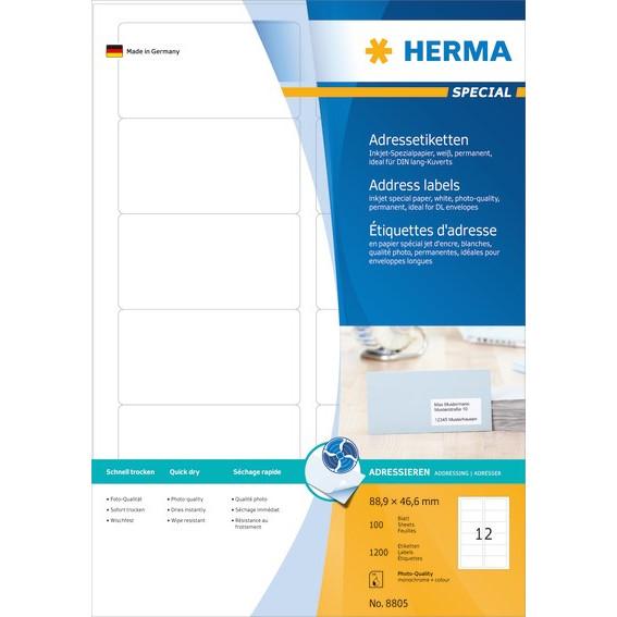 HERMA Herma etiket Special Inkjet 88,9x46,5 (1200)