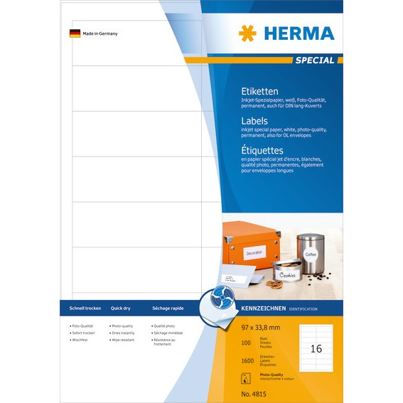 HERMA Herma etiket Special Inkjet 96,5x33,8 (1600)