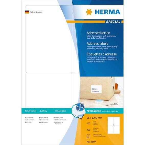 HERMA Herma etiket Special Inkjet 96x139,7 (400)