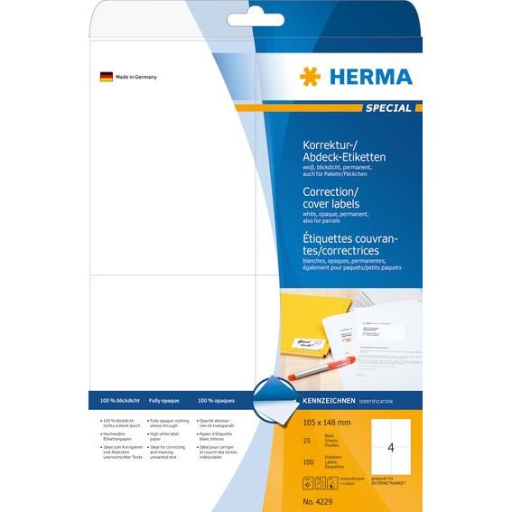 HERMA etiket uigennemsigtig 105x148 (100)