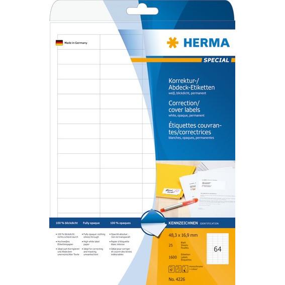 HERMA etiket uigennemsigtig 48,3x16,9 (1600)