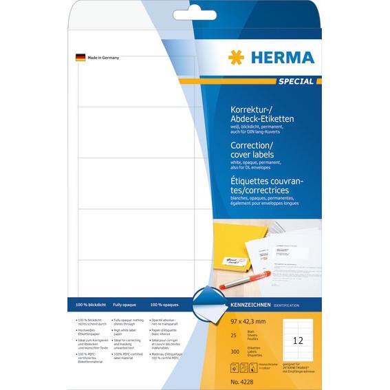 HERMA etiket uigennemsigtig 96,5x42,3 (300)