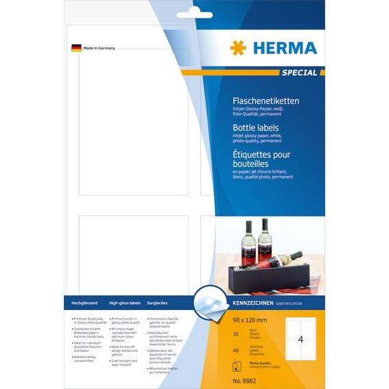 HERMA Herma Inkjet flaskelabels 90x120 glossy (40)