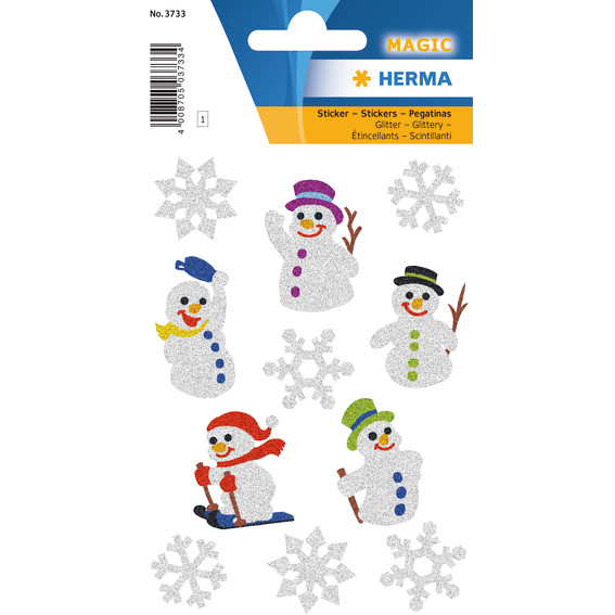 HERMA Herma Magic snow men, glittery