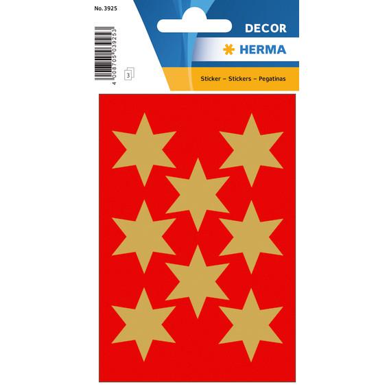 HERMA Herma stickers Decor stjerner ø33 guld (3)