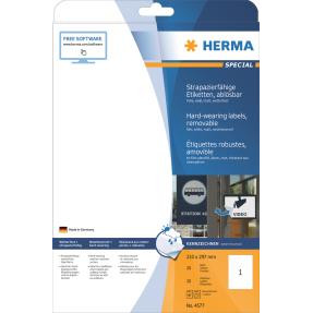 HERMA Labels weather-resistant removable A4 white 210x297 (2