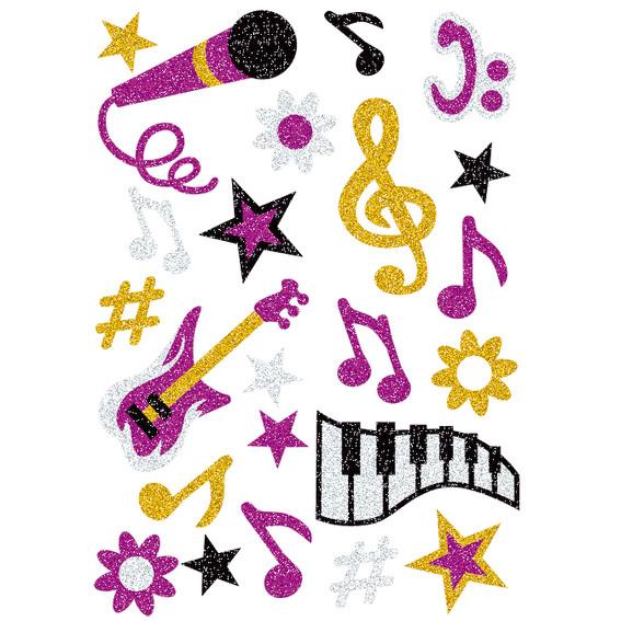 HERMA Sticker Herma Magic music, glittery