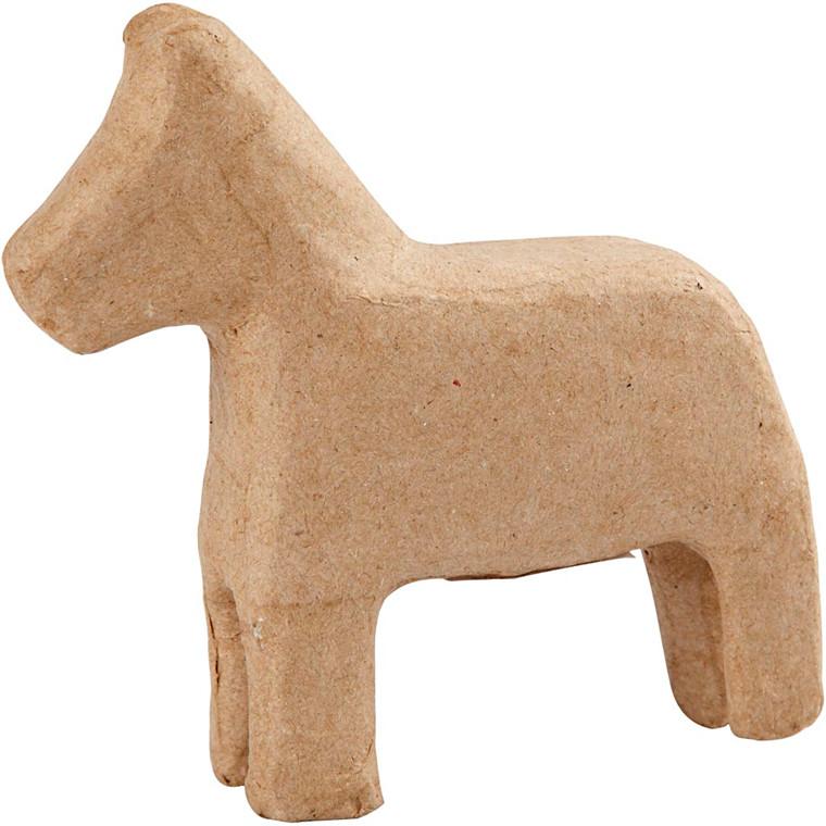 Hest papmaché | højde 14 cm