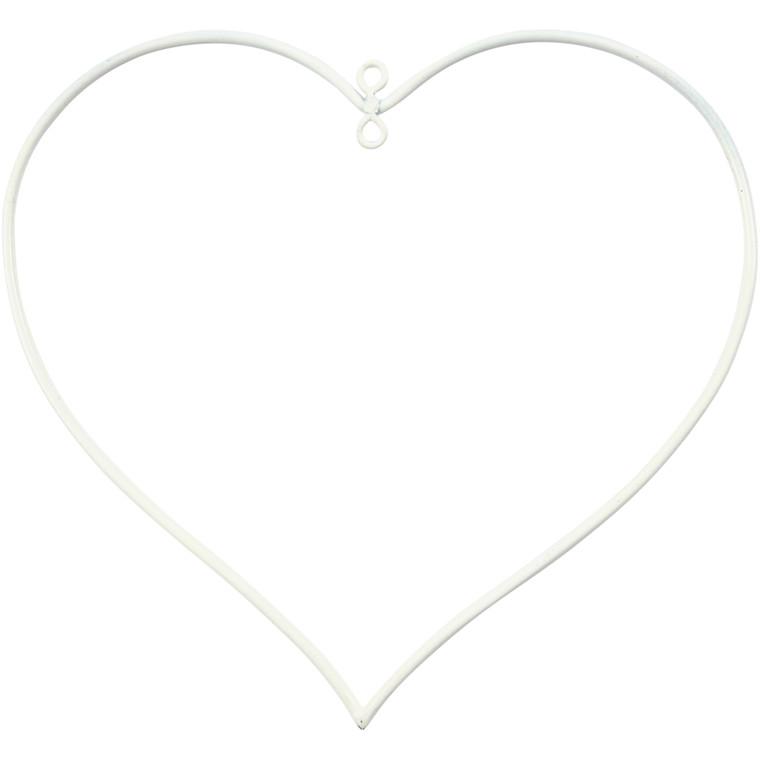 Hjerte hvid Størrelse 13 x 13 cm, tykkelse 25 mm | 10 stk