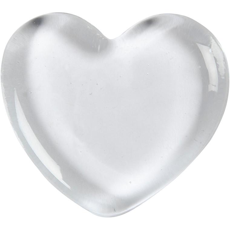 e659e126f97 Hjerte størrelse 6,5 x 6,5 cm tykkelse 10 mm transparent | 20