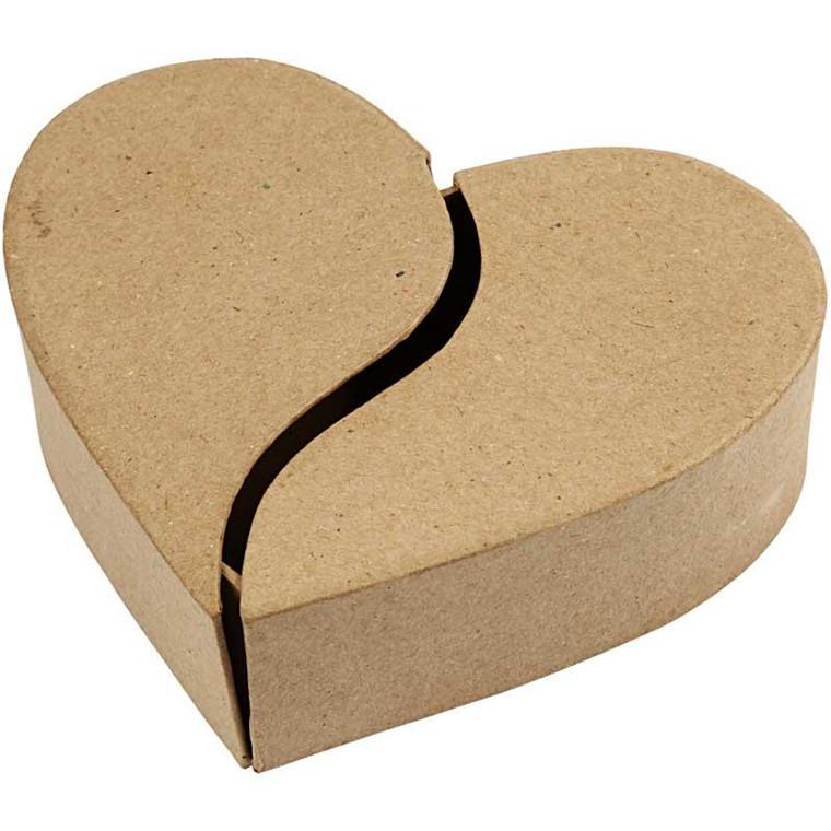 Hjerteæske papmaché | diameter 16,5 cm