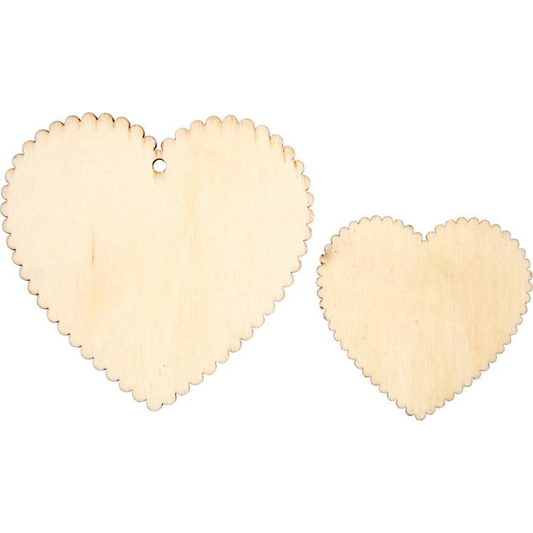 Hjerter størrelse 7,5 x 7,5 cm størrelse 5,1 x 5,1 cm | 12 stk.