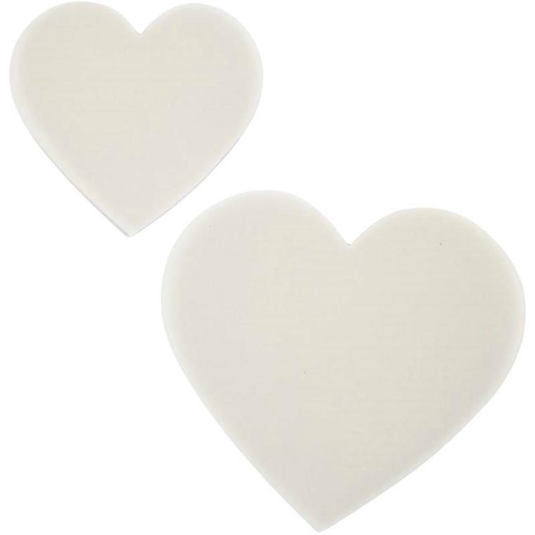 Hjerter størrelse 8,5 + 6 cm 150 gram vellumpapir | 50 assorteret