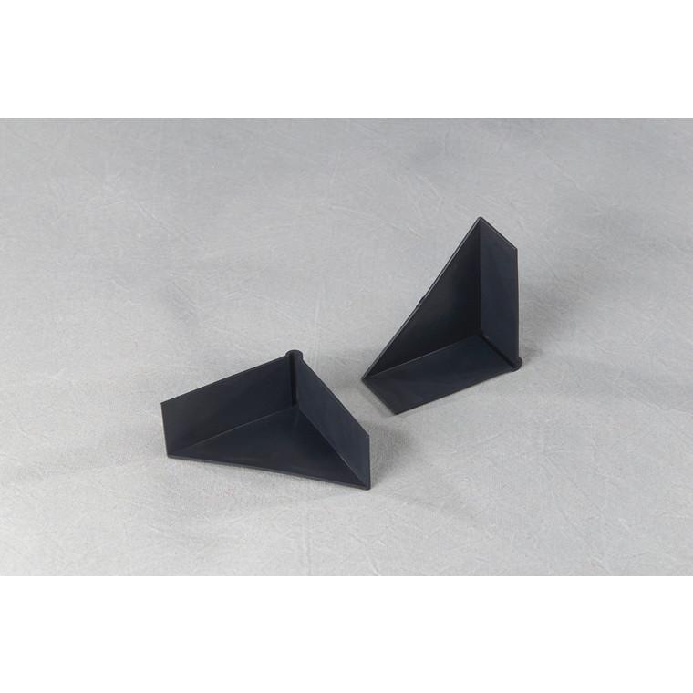 Hjørnebeskyttelse i plast 3 sidet i sort - 70 x 70 x 28 mm 1000 stk i karton