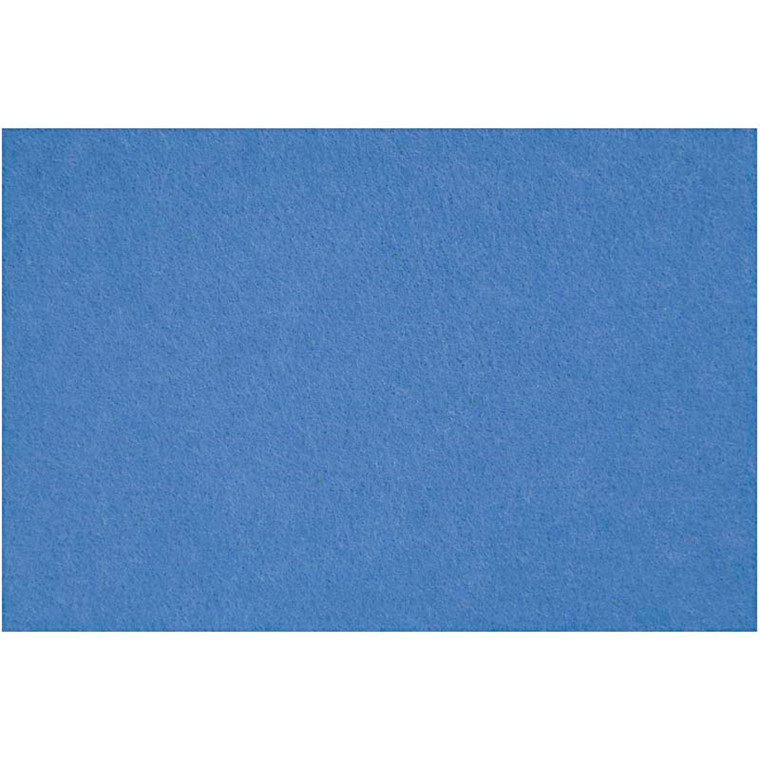 Hobbyfilt ark 42 x 60 cm tykkelse 3 mm | blå