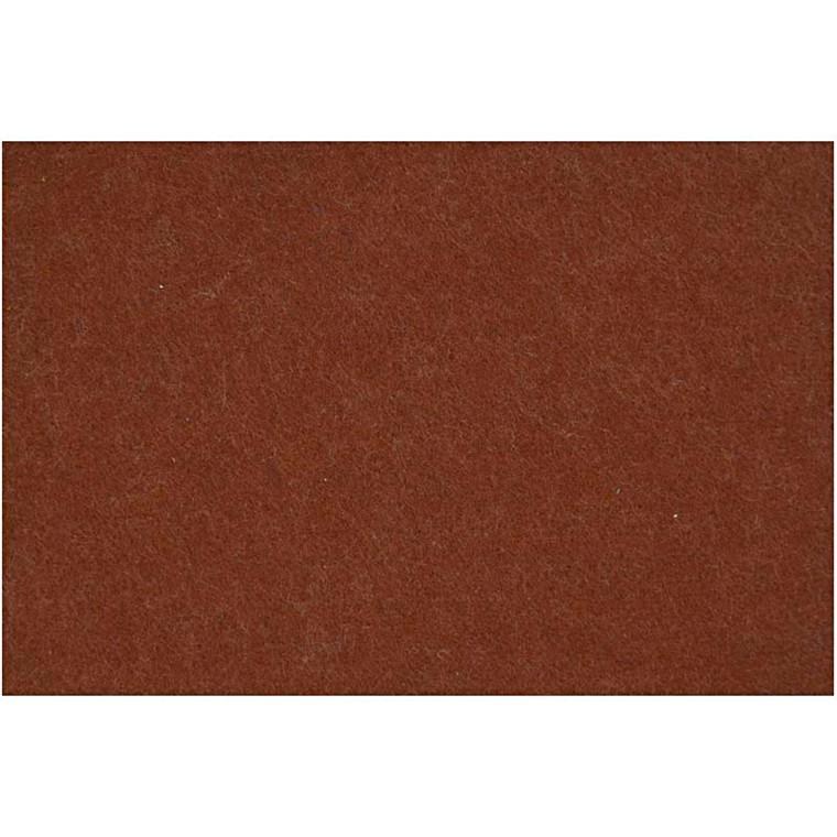 Hobbyfilt ark 42 x 60 cm tykkelse 3 mm | brun