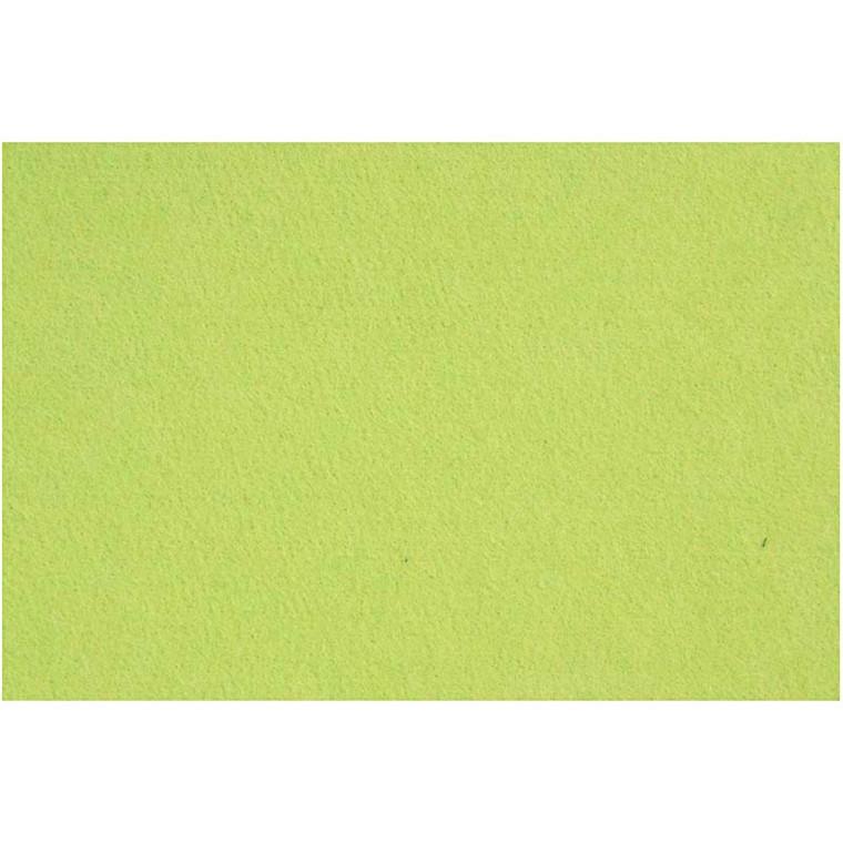 Filt 3 mm tyk 42 x 60 cm ark | lime grøn