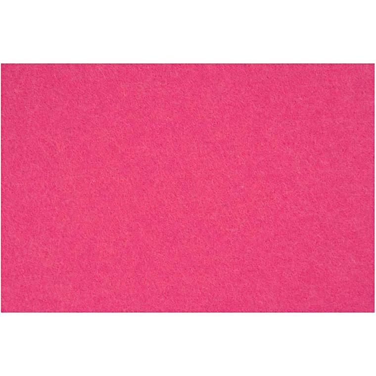 Hobbyfilt ark 42 x 60 cm tykkelse 3 mm | pink