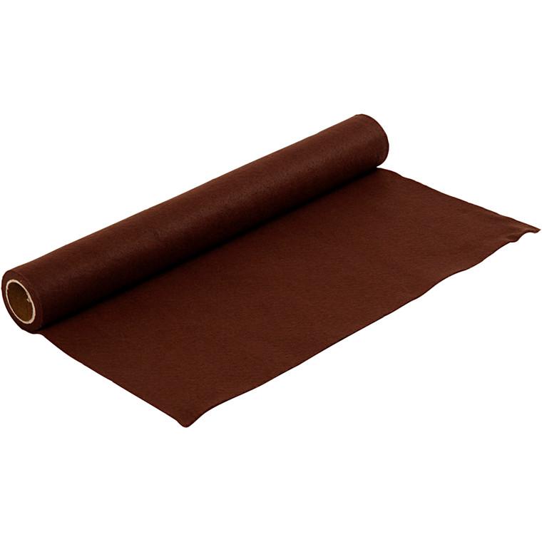 Hobbyfilt bredde 45 cm tykkelse 1,5 mm brun - 1 meter