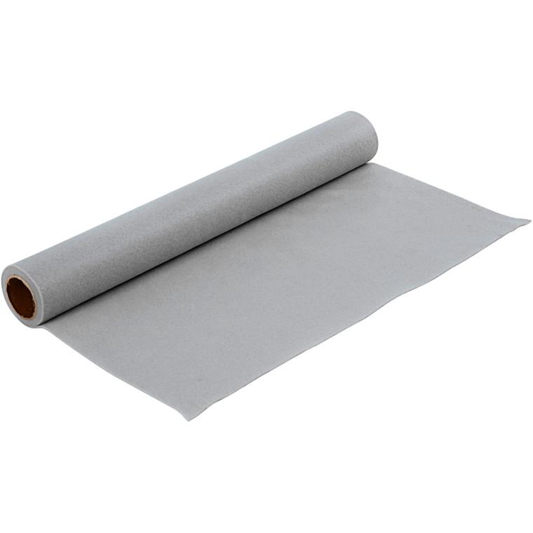 Hobbyfilt grå bredde 45 cm tykkelse 1,5 mm - 1 meter