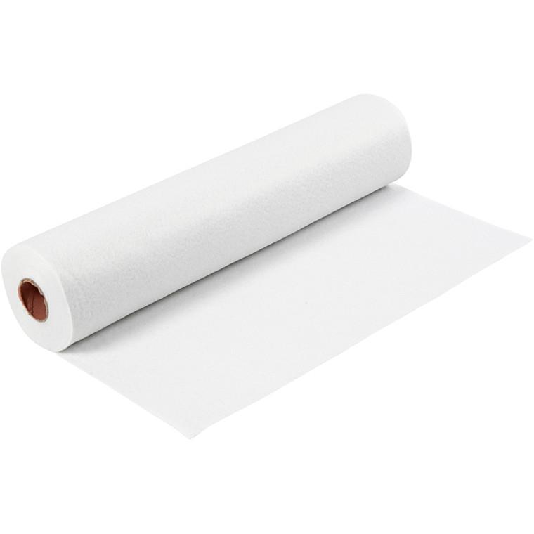 Hobbyfilt bredde 45 cm tykkelse 1,5 mm hvid | 5 meter
