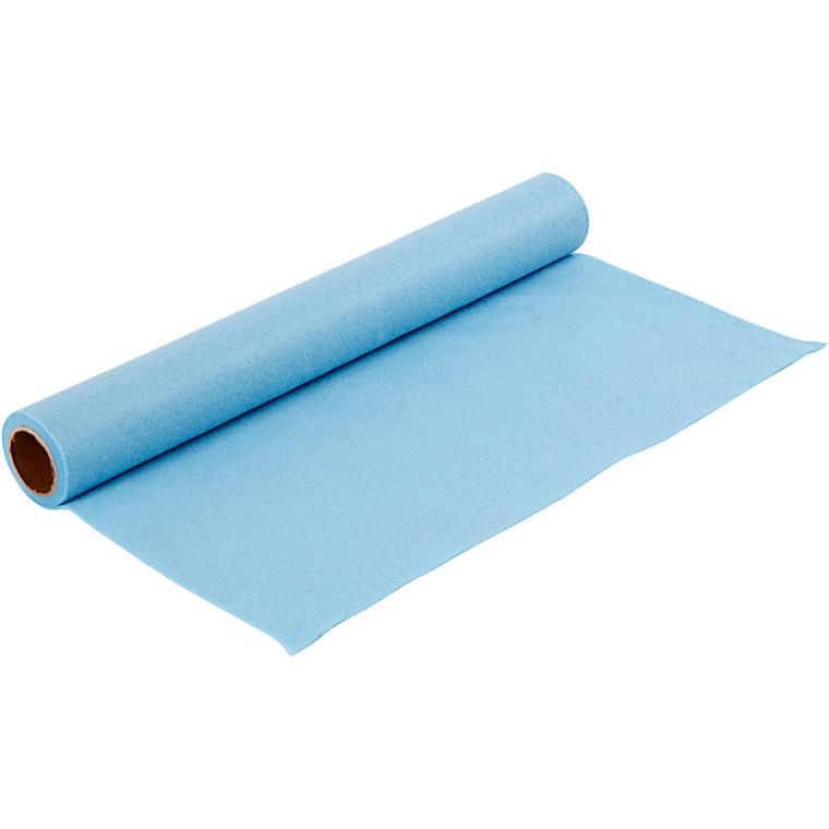 Hobbyfilt bredde 45 cm tykkelse 1,5 mm lys blå | 1 meter