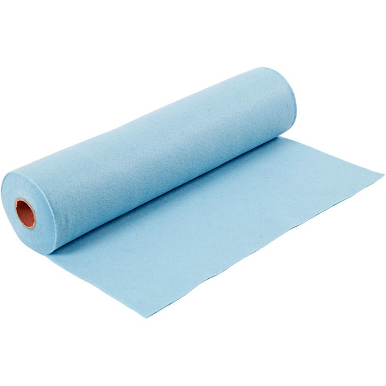 Hobbyfilt bredde 45 cm tykkelse 1,5 mm lys blå | 5 meter