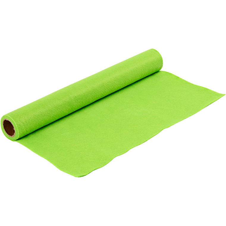 Hobbyfilt - Lys grøn - Bredde 45 cm - tykkelse 1,5 mm - 1 m