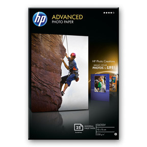 Fotopapir 10x15 cm - HP Advanced Glossy 250 gram - 25 ark