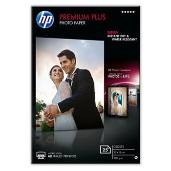 HP - Premium Plus glossy Foto papir 10 x 15 cm 300 gram - 25 ark