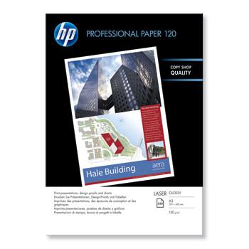 HP A3 Professional glossy laser Foto papir 120 gram - 250 ark