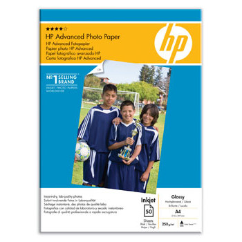 HP - A4 Advanced Glossy Foto Papir 250 gram - 50 ark