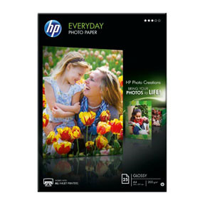 HP - A4 Everyday Glossy Foto papir 200 gram - 25 ark