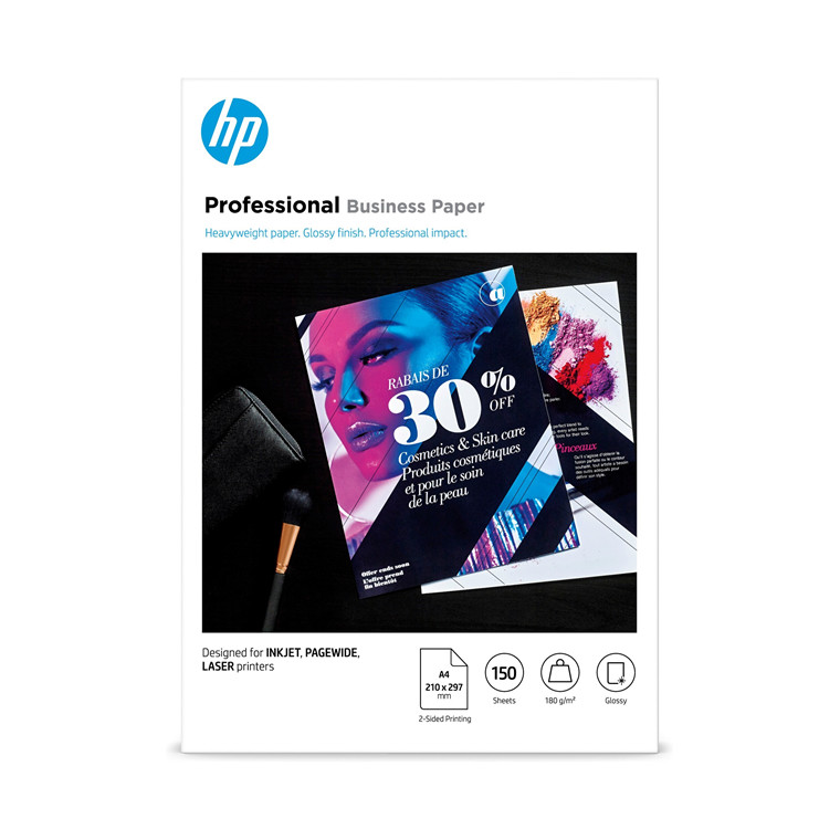 HP A4  glossy Professional Business paper 2-side 180g/m² (150)
