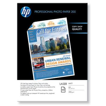 HP - A4 Foto papir Laser Matt 200 gram - 100 ark